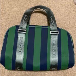 NWOT Lacoste Cylinder Bag - Emerald/Navy